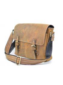 Мужская кожаная сумка через плечо мессенджер TARWA, RB-6002-3md