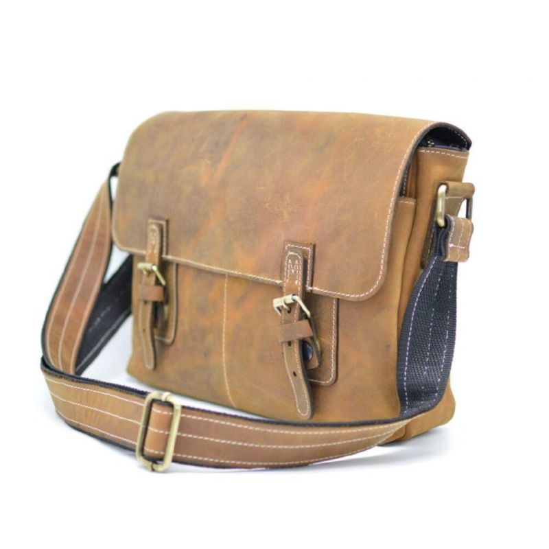 7c55525fb5d0 Мужская кожаная сумка через плечо мессенджер TARWA, RB-6002-3md