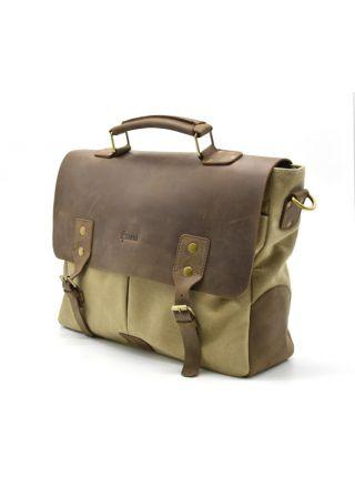 Мужская сумка для ноутбука, кожа и парусина RC-3960-4lx TARWA