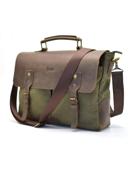 Мужская сумка для ноутбука, кожа и парусина RH-3960-4lx TARWA