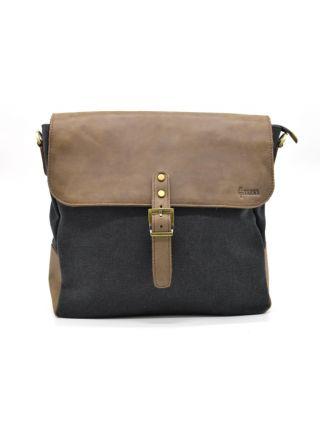 Мужская сумка через плечо, мессенджер, парусина и кожа RG-6600-4lx TARWA