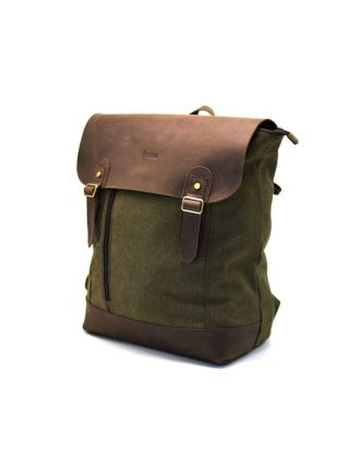 Мужской рюкзак городской кожа+ткань RH-3880-3md TARWA