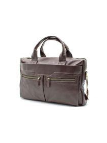 Кожаная мужская сумка для ноутбука коричневая GC-7122-1md TARWA
