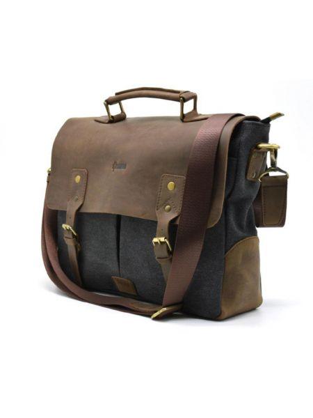 Мужская сумка для ноутбука, кожа и парусина RG-3960-4lx TARWA