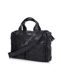 Кожаная мужская сумка для ноутбука черная TARWA GA-7122-3md