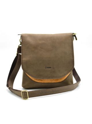 Мужская сумка через плечо, мессенджер кожа+парусина RY-18072-4lx TARWA