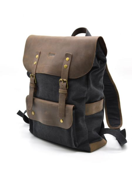 Рюкзак городской унисекс парусина+кожа RG-9001-4lx TARWA