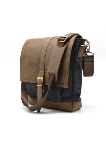 Мужская сумка через плечо мессенджер парусина+кожа RG-1811-4lx TARWA