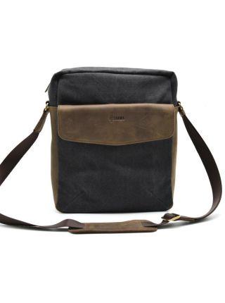 Мужская сумка мессенджер, парусина Canvas и кожа RG-1810-4lx Tarwa
