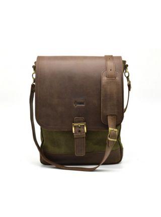 "Мужская сумка через плечо, мессенджер кожа и ""Canvas"" RH-1808-4lx Tarwa"
