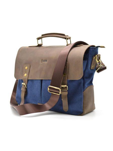 Мужская сумка для ноутбука, кожа и парусина RK-3960-3md TARWA