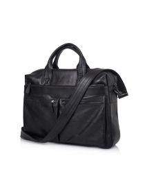 Кожаная мужская сумка для ноутбука черная TARWA GA-7122-3mdL