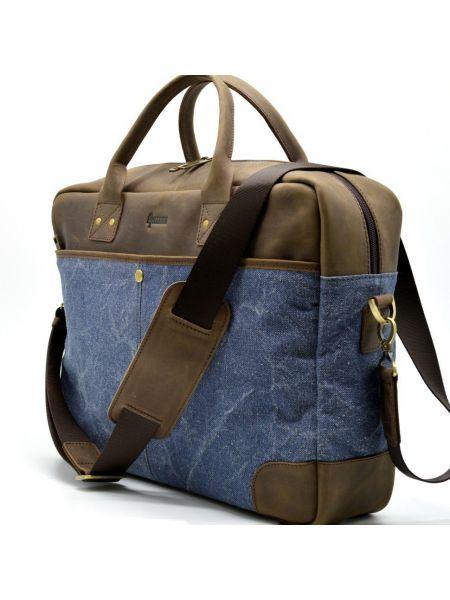 Мужская сумка для ноутбука 17 дюймов, кожа и ткань RK-0458-4lx TARWA
