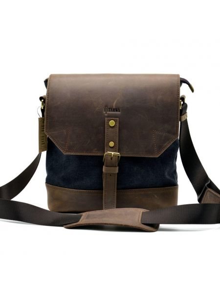 Мужская сумка через плечо мессенджер парусина+кожа RG-1307-4lx TARWA