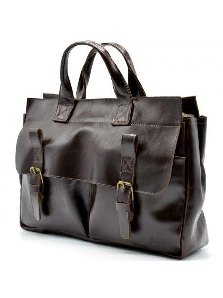 Мужская кожаная сумка и портфель для ноутбука GX-7107-3md TARWA